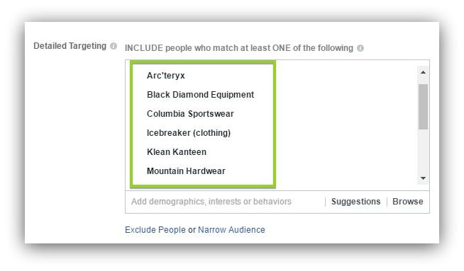 targeting brands facebook advertising