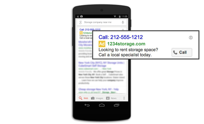 adwords call only