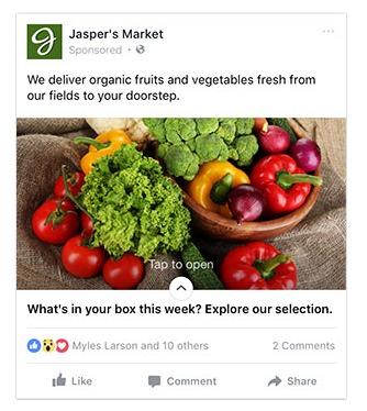 facebook canvas ad