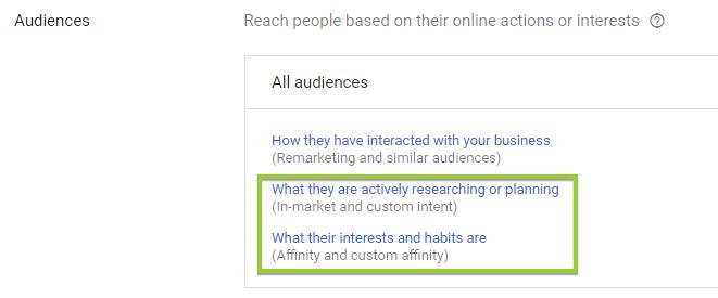 google display targeting options