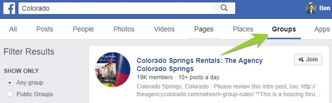 use local facebook groups to find leads