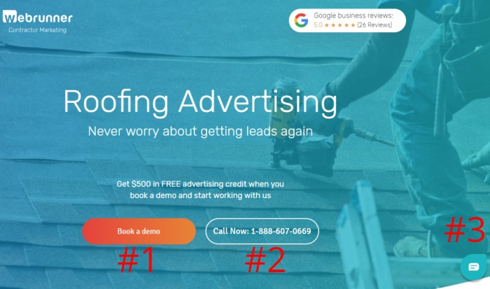 cta optimized landing page